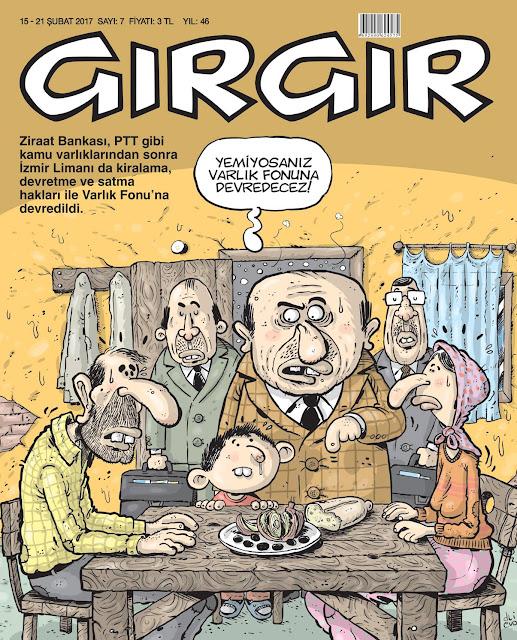 Gırgır Dergisi | 15-21 Şubat 2017 Kapak Karikatürü