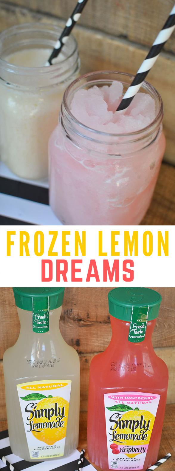 SIMPLE SUMMER TREAT: FROZEN LEMON DREAMS #Lemon #Summer