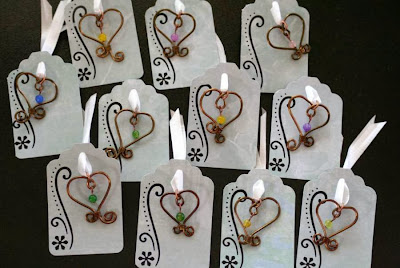 Art Charm Swap ~ Love: ooak charm, antique bronze, jade, wire wrapping :: All Pretty Things
