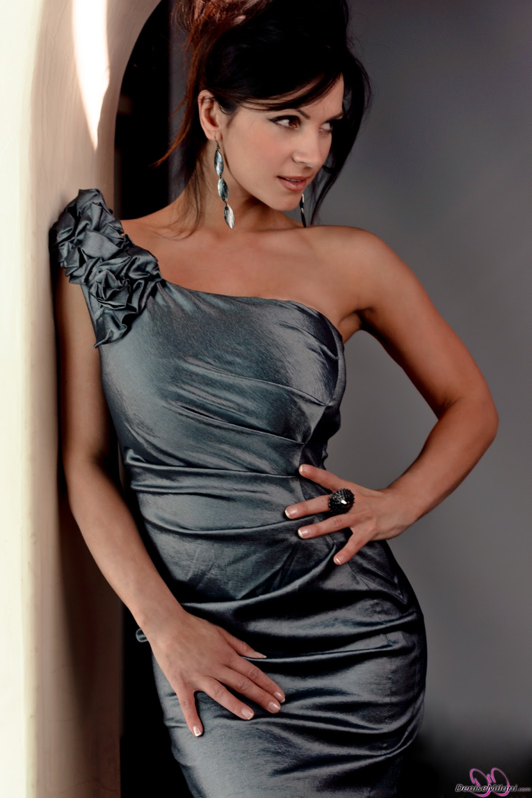 denise milani in a dress - photo #5