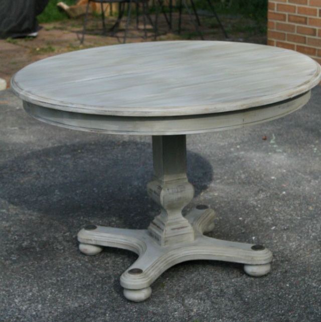Gray wash table