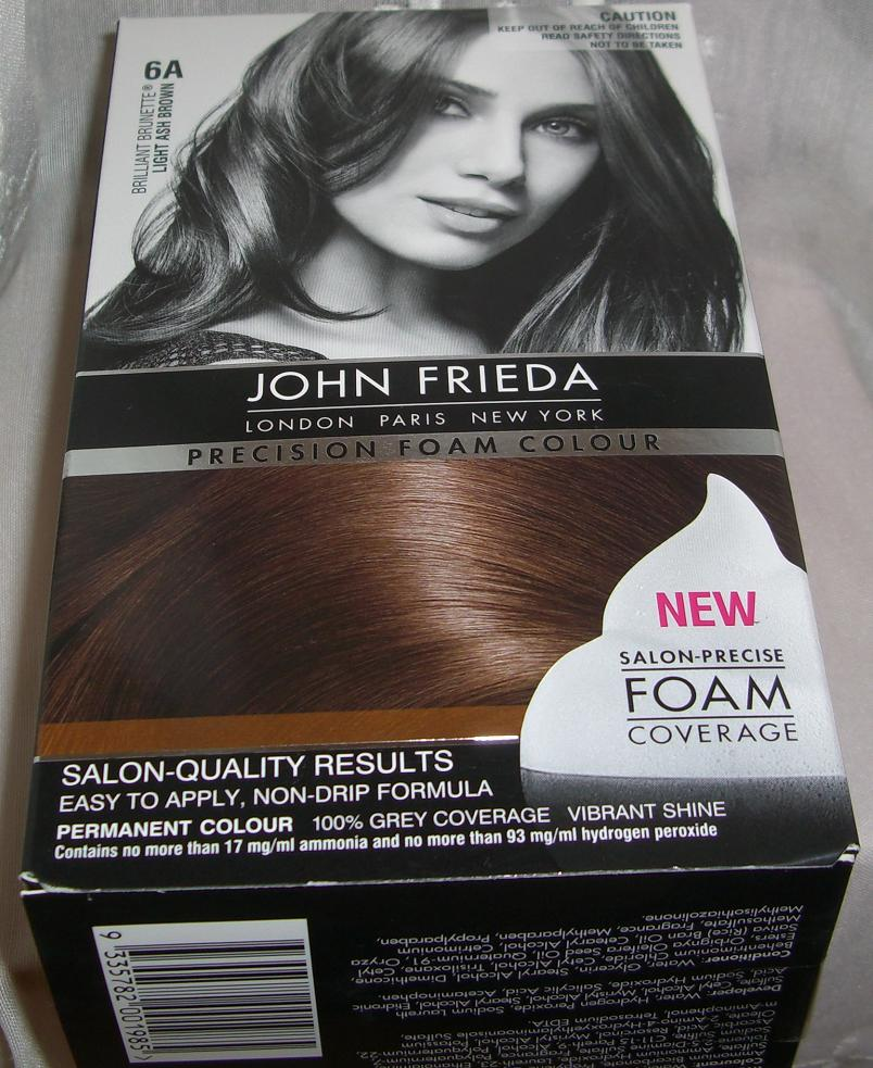 John Frieda Precision Foam Colour 6a Light Ash Brown Brilliant Brunette Review Swatch