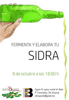 Cartel del taller de elaboración de sidra