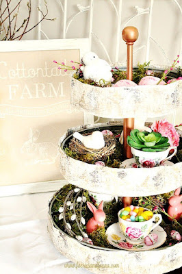 Spring galvanized tray decor