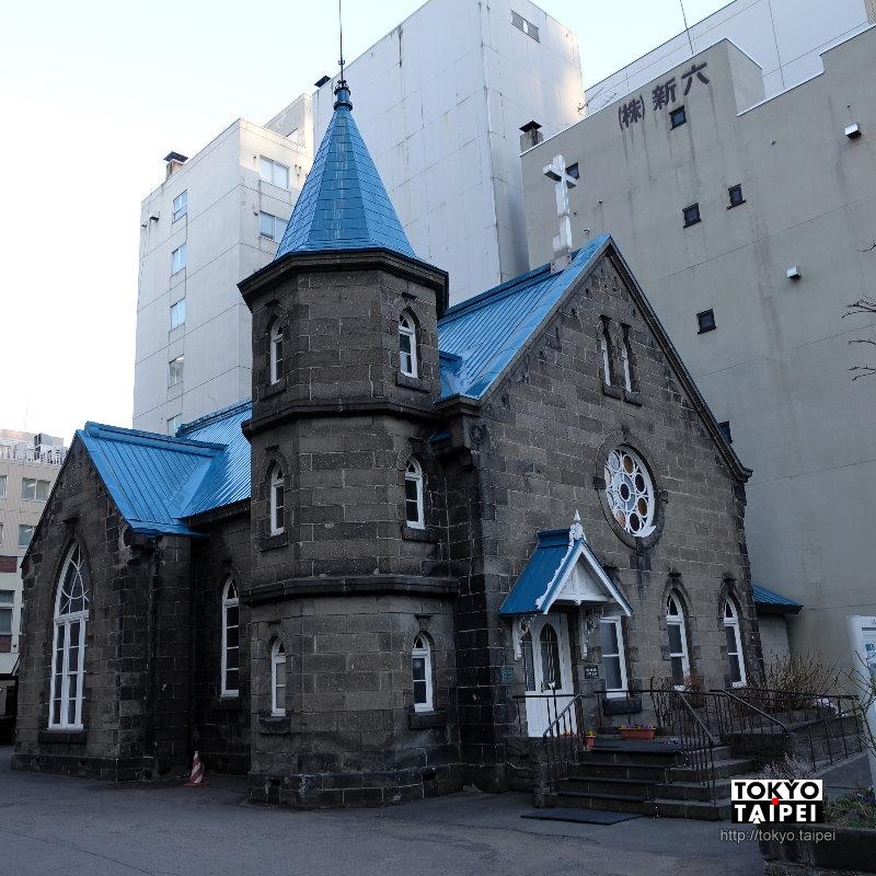 【札幌教會禮拜堂】路邊經過百年小教堂 別緻的彩繪玻璃窗和石牆