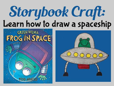 Storybook craft learn how to draw a spaceship