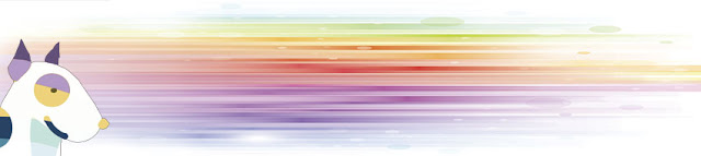 imagen del espectro del arco iris con un perro