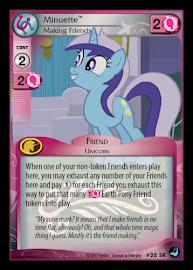 My Little Pony Minuette, Making Friends High Magic CCG Card
