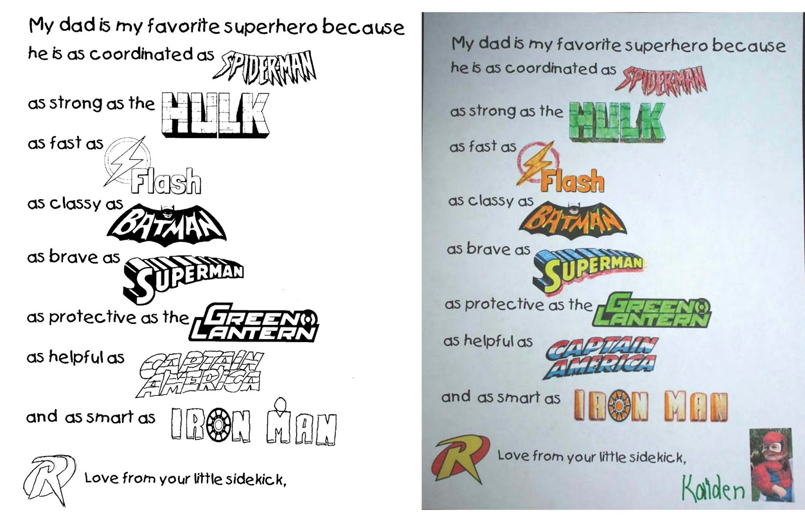 My Dad S A Superhero Writing Prompt Crafts For Father S