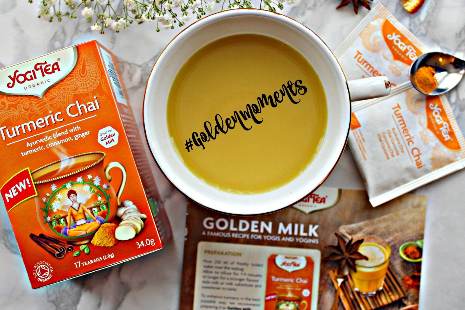 New in: Yogi Tea Turmeric Chai #GoldenMoments (sponsored)