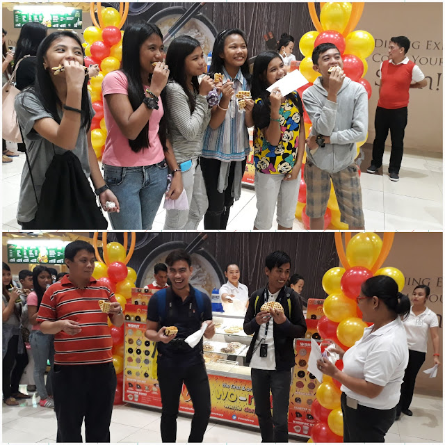Kids and bloggers participated in the fastest eating wonut challenge and won GC's