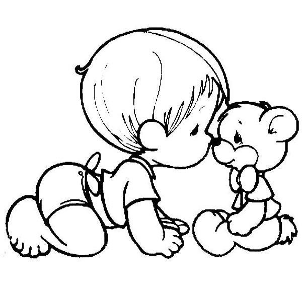 precious moment baby coloring pages - photo#49