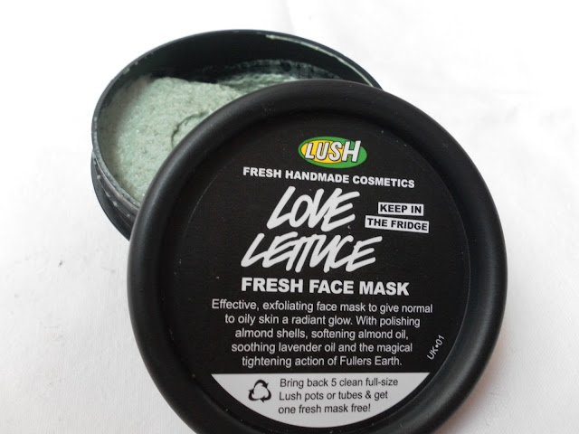A picture of Lush Love Lettuce Fresh Face Mask