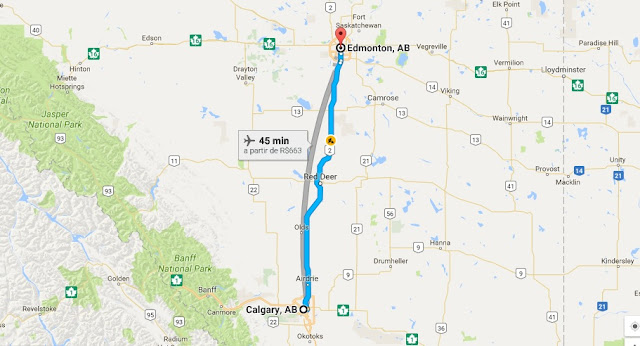 Como ir de Calgary a Edmonton de carro