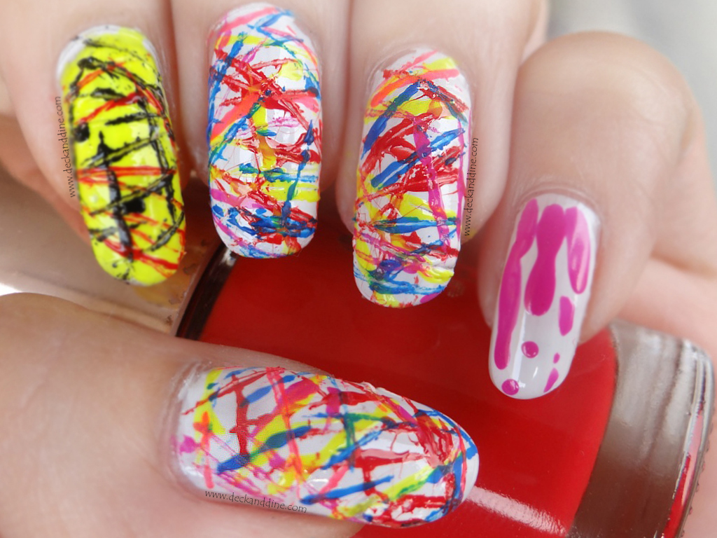 Nail Art Using Sewing Thread Holi Special Deck And Dine