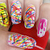 Nail Art using Sewing Thread: Holi Special