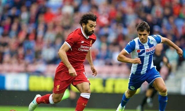 ملخص لمسات محمد صلاح في اول ظهور له مع ليفربول  امام ويجان