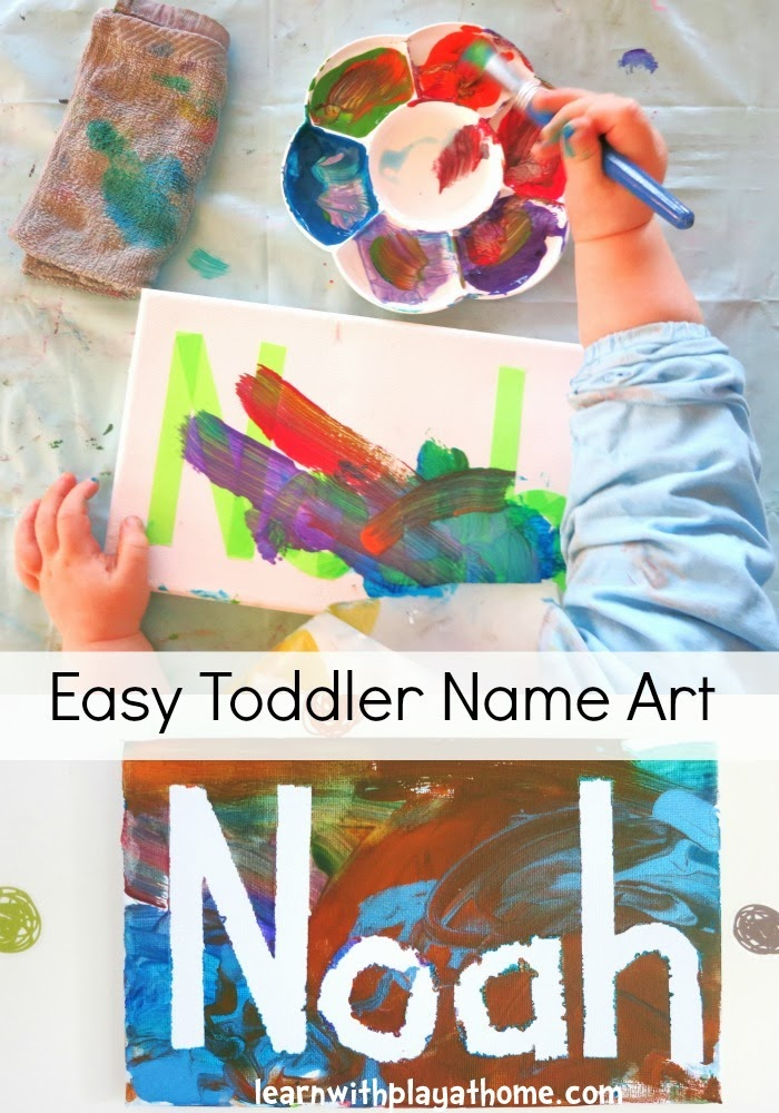 Learn With Play At Home Easy Toddler Name Art
