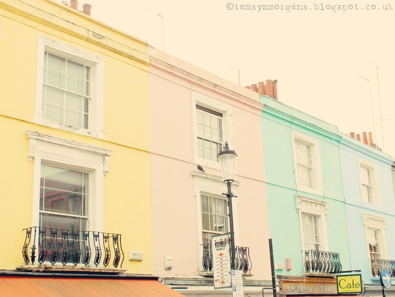 Pastel Houses on Portobello Road