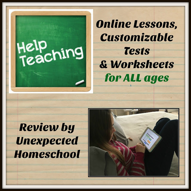 Unexpected Homeschool: Review of HelpTeaching.com