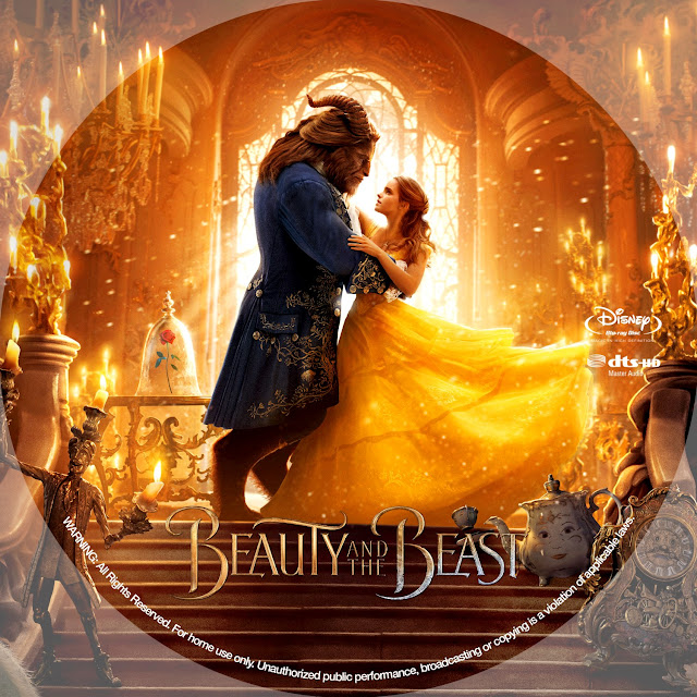 Beauty and the Beast Bluray Label
