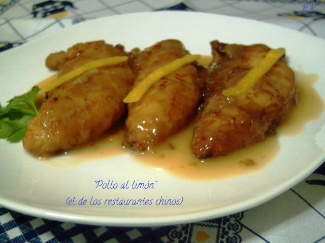 """""""Pollo al limón el de los restaurantes chinos"""""""
