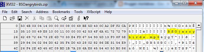 alterando archivo zip