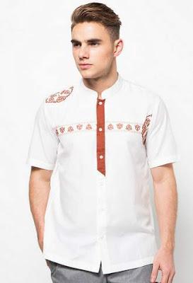 Contoh baju koko lengan pendek desain trendy untuk remaja