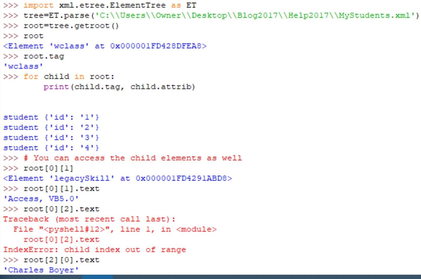 Hodentek: Parsing XML with Python 3.7
