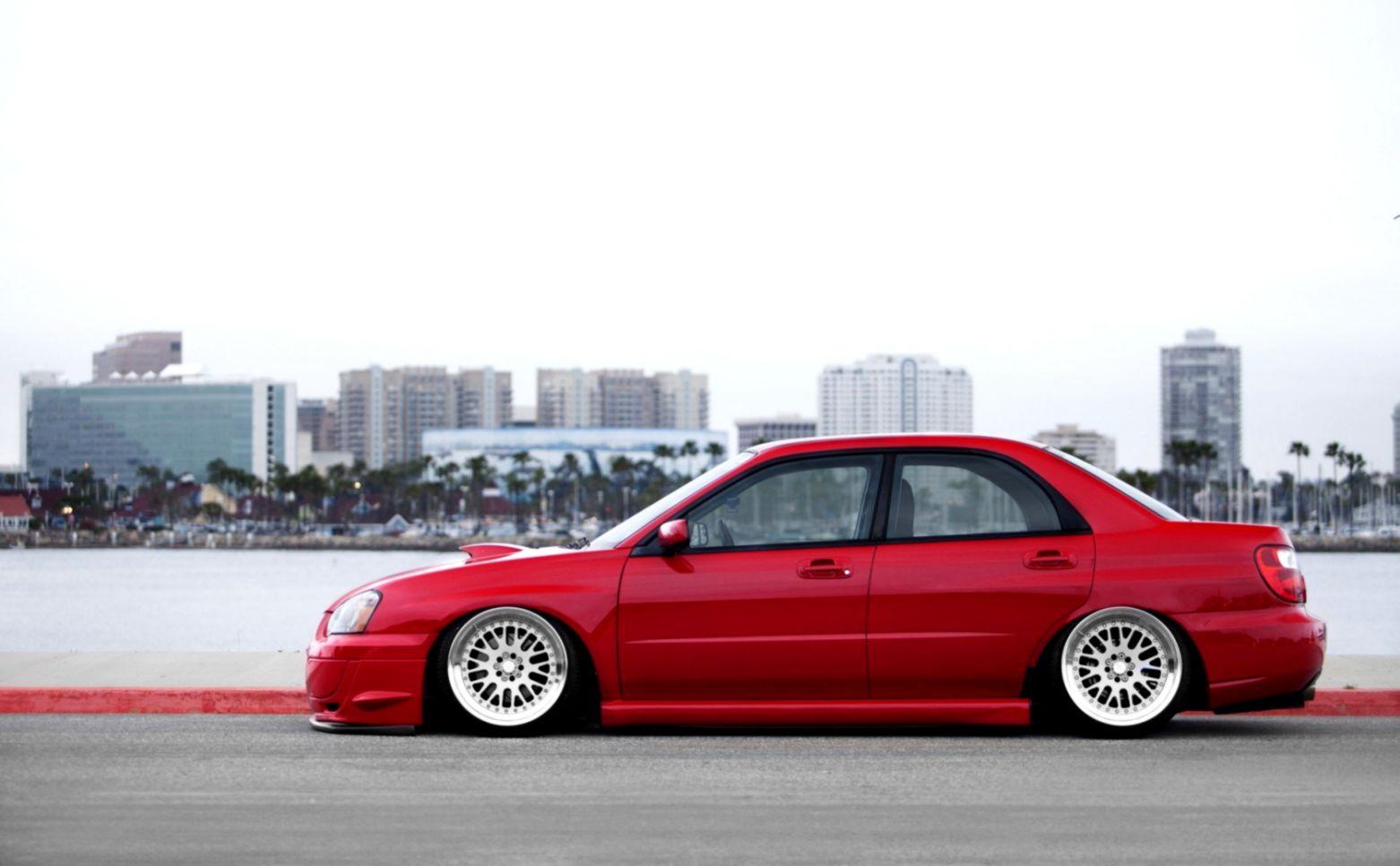 Subaru Impreza Wrx Red Car Tuning Hd Wallpaper Decor Di Design