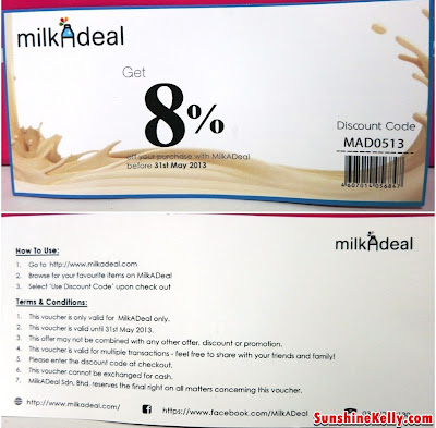 Milk A Deal 8% Discount Voucher