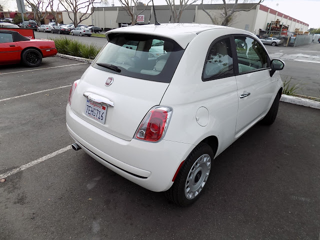 Fiat 500 before overall auto paint at Almost Everything Auto Body