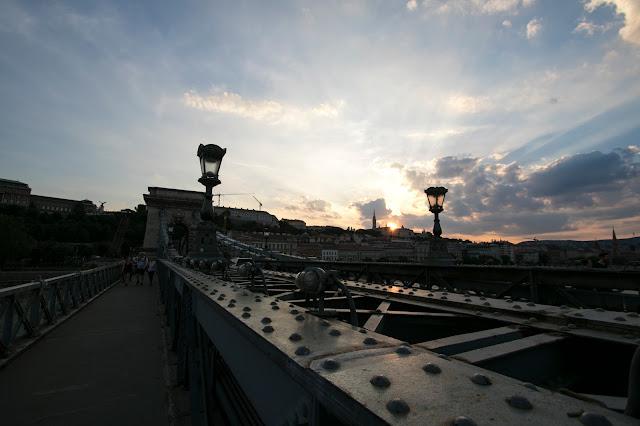 Ponte delle catene al tramonto-Budapest