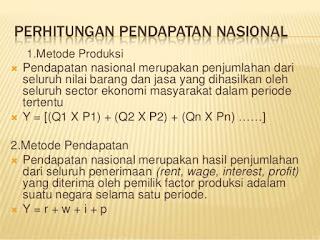 Metode Perhitungan Pendapatan Nasional dan Contoh Soal