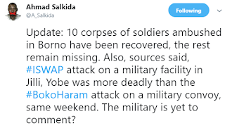 Boko Haram Kills 10 Out of 23 Soldiers Ambushed in Borno