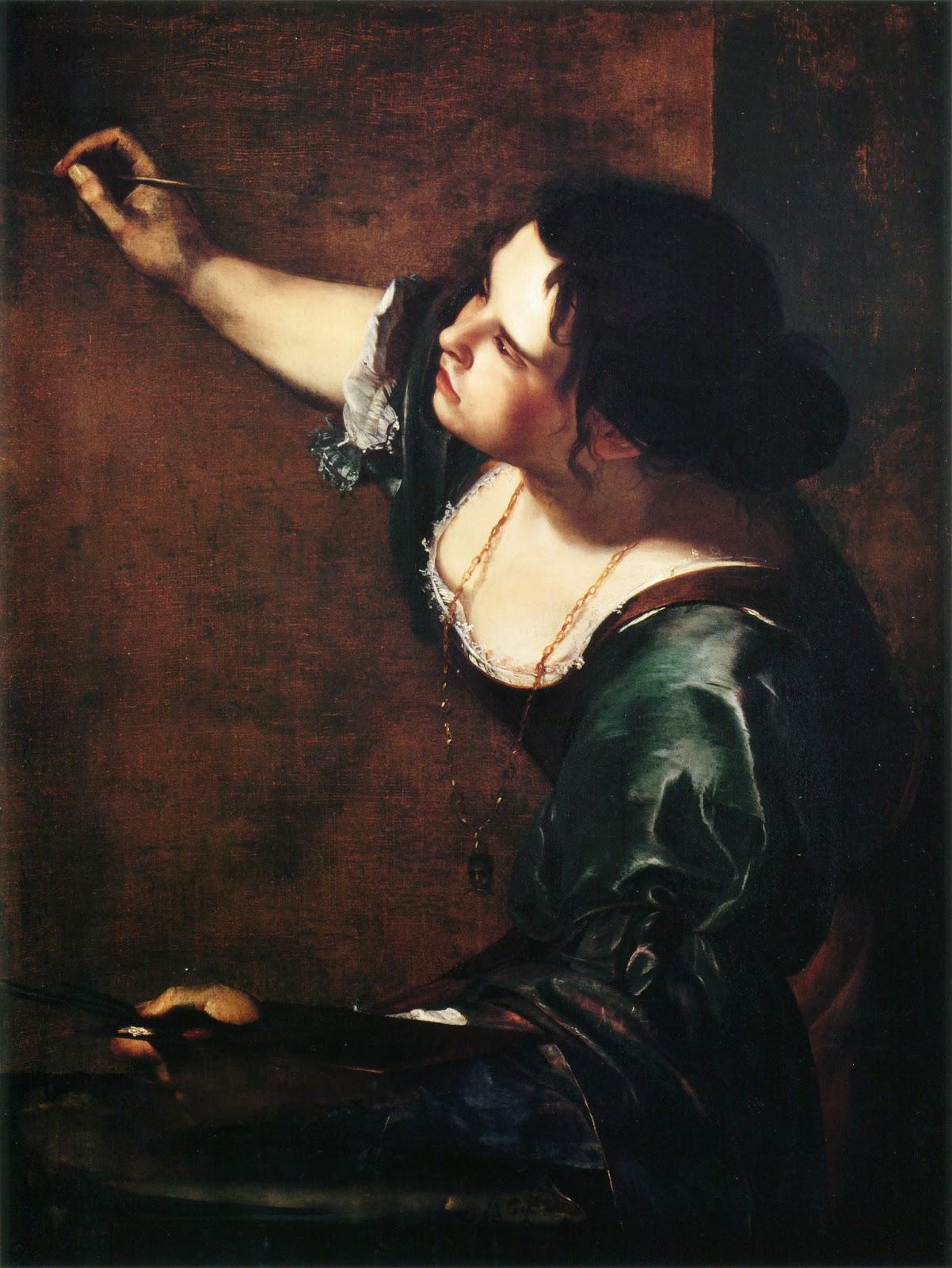 AUto retrato Alegoria pintura Artemisia Gentileschi - Artemisia Gentileschi - os pintores caravaggescos