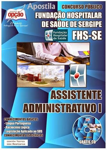 Apostila FUNDAÇÃO HOSPITALAR DE SAÚDE – FHS -Sergipe para Unidades Hospitalar e Administrativa