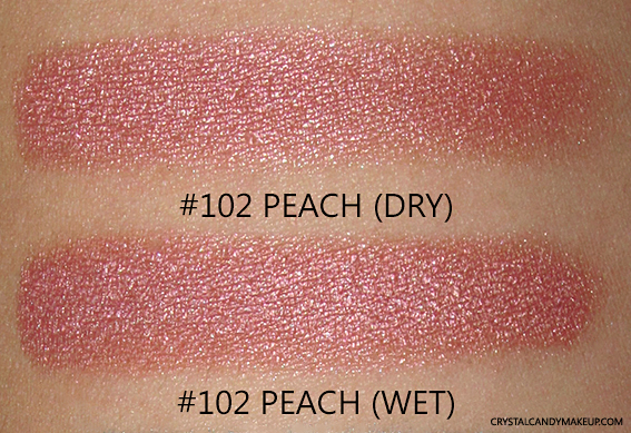 PUPA Milano Vamp! Wet & Dry Eyeshadows Review 102 Peach Swatch