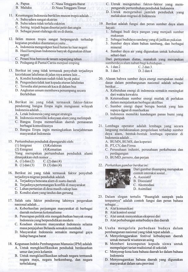 Latihan Soal Usbn Ips Smp Mts Tahun 2018 Sesuai Kurikulum 2013 Serba Serbi Guru