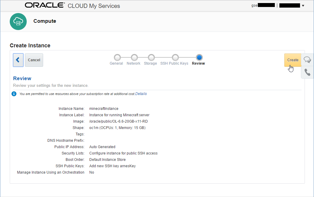 Arnes Tech Stuff: How to run a Minecraft Server in the Oracle Cloud