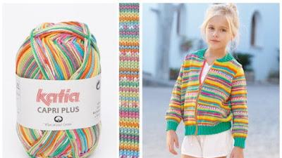 Tejer a crochet planeando el cambio de hebras en lanas multicolor