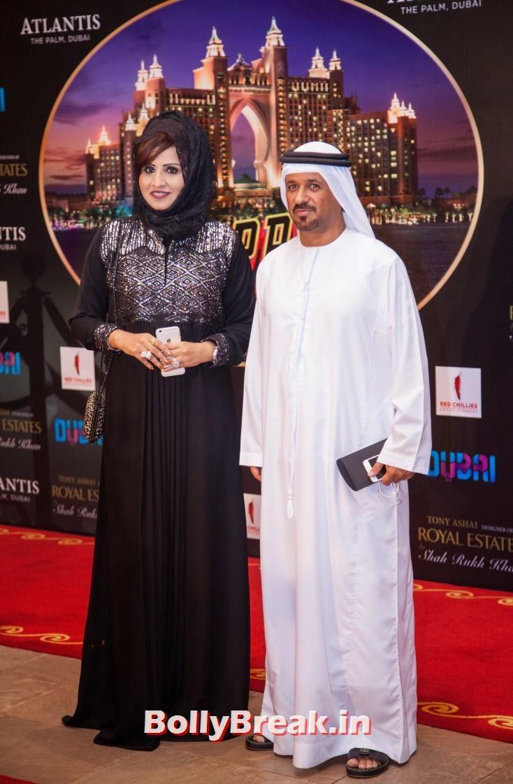 Sarah Rashid and Saif Belhasa, Happy new Year Dubai Premiere Photos