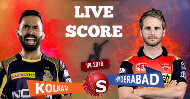 IPL 2018 Match 10 KKR vs SRH Live Socre and Full Scorecard