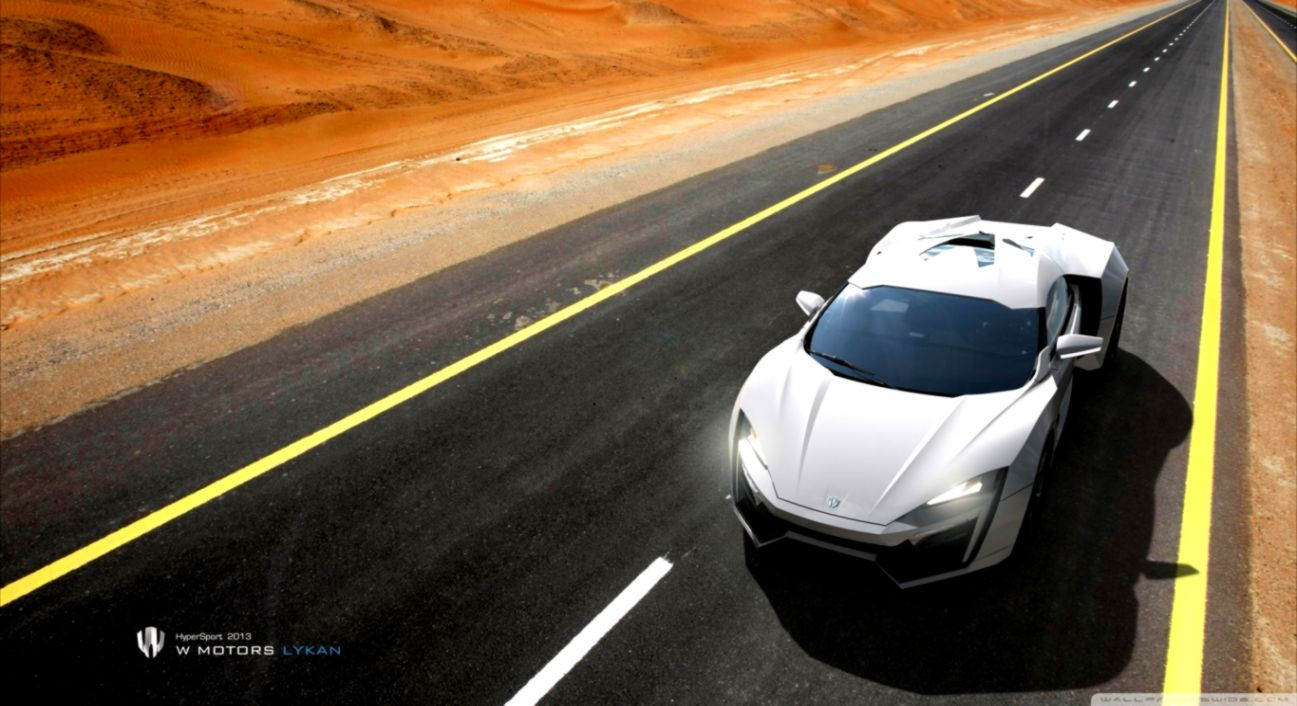W Motors Lykan Hypersport In The Dark Wallpaper Wide | Wallpapers Arena