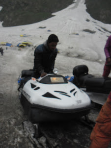 "A ""Snow Mobile"" for joy ride at  Sonamarg."