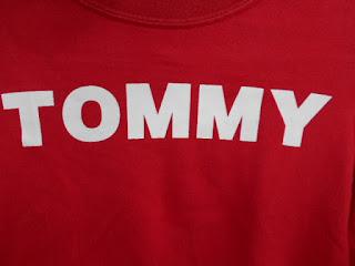 100㎝   リサイクル Tシャツ トミーヒィルヒガー 赤 ロゴ