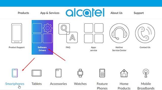 Descarga de controladores Alcatel