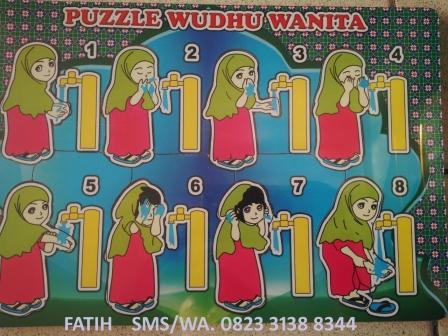 Puzzle Edukatif Wudhu Wanita