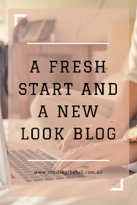 Taking the plunge and getting a template that has given my blog a fresh new look - loving it!