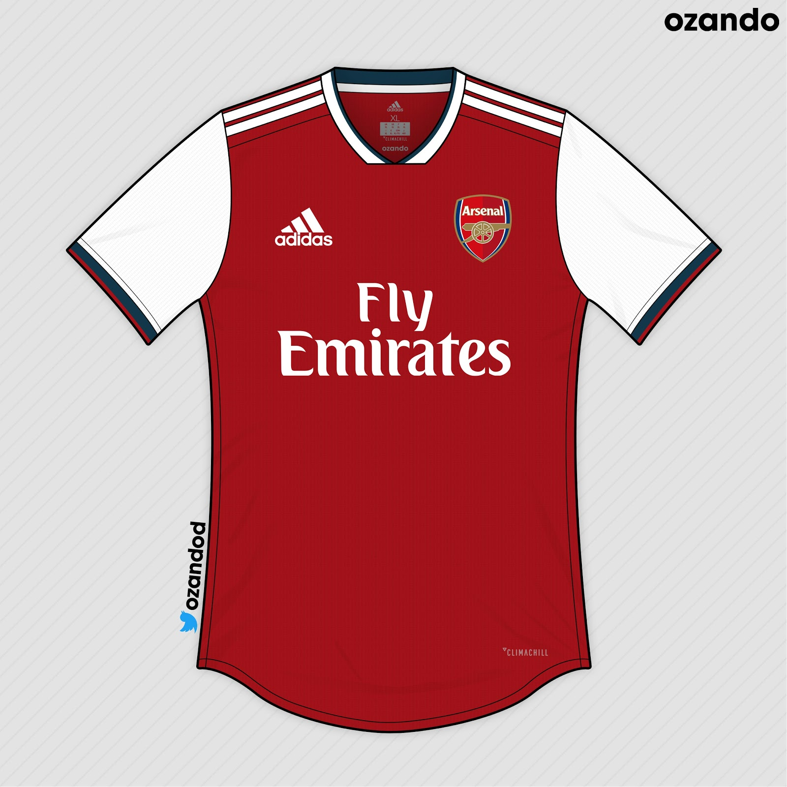 bb14afdcc0c Adidas Arsenal 19-20 Home, Away & Third Concept Kits by ozando ...